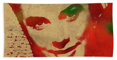 Grace Kelly Watercolor Portrait Hand Towel by Design Turnpike