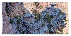 Bath Towel featuring the photograph Grand Canyon Cliff Wall, Arizona by A Gurmankin