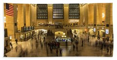Grand Central Station Hand Towel by Martin Newman