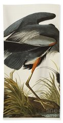 Great Blue Heron Hand Towel by John James Audubon