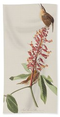 Great Carolina Wren Hand Towel by John James Audubon