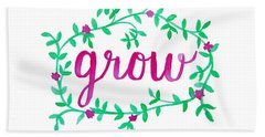 Grow Hand Towel by Michelle Eshleman