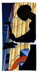 Hammering Man Hand Towel by Tim Allen