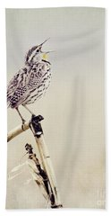 Happy As A Lark Hand Towel by Pam  Holdsworth