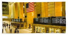 Hand Towel featuring the photograph Grand Central Pride by M G Whittingham