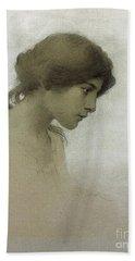 Head Of A Girl  Hand Towel by Franz Dvorak