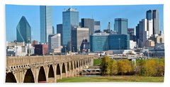 Heading To Dallas Hand Towel by Frozen in Time Fine Art Photography