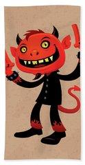 Heavy Metal Devil Hand Towel by John Schwegel
