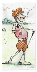 Hole In One? Hand Towel by Connor Reed Crank
