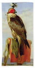 Hooded Falcon Hand Towel by Sir Edwin Landseer