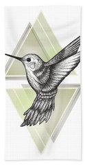 Hummingbird Hand Towel by Barlena