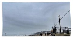 Hunstanton At 4pm Yesterday As The Hand Towel by John Edwards