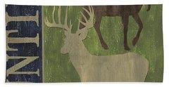 Hunting Hand Towel by Debbie DeWitt