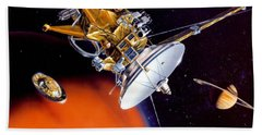 Huygens Probe Separating Hand Towel by NASA and Photo Researchers