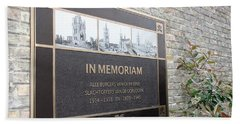 Bath Towel featuring the photograph In Memoriam - Ypres by Travel Pics