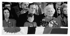 Inauguration Of George Bush Sr Hand Towel by H. Armstrong Roberts/ClassicStock