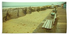 Is This A Beach Day - Jersey Shore Hand Towel by Angie Tirado