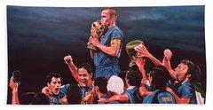 Italia The Blues Hand Towel by Paul Meijering