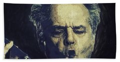 Jack Nicholson 2 Hand Towel by Semih Yurdabak