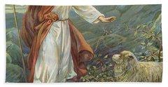 Jesus Christ The Tender Shepherd Hand Towel by Ambrose Dudley