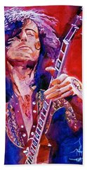 Jimmy Page Hand Towel by David Lloyd Glover
