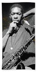 John Coltrane Hand Towel by Semih Yurdabak