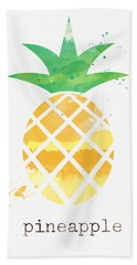 Juicy Pineapple Hand Towel by Linda Woods