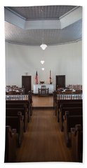 Jury Box In A Courthouse, Old Hand Towel by Panoramic Images