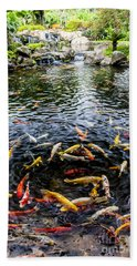 Kauai Koi Pond Hand Towel by Darcy Michaelchuk