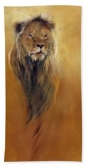 King Leo Hand Towel by Odile Kidd