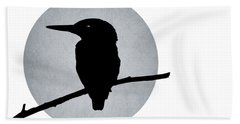 Kingfisher Hand Towel by Mark Rogan