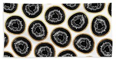 Kiwi Pattern Hand Towel by Elisabeth Fredriksson
