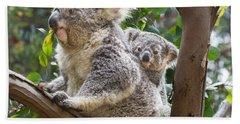 Koala Joey On Mom Hand Towel by Jamie Pham