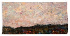 Land And Sky Hand Towel by James W Johnson