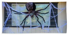 Large Scary Spider  Hand Towel by Garry Gay