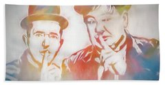 Laurel And Hardy Hand Towel by Dan Sproul