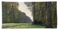 Le Pave De Chailly Hand Towel by Claude Monet