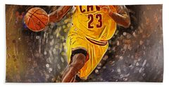 Lebron James Hand Towel by Semih Yurdabak