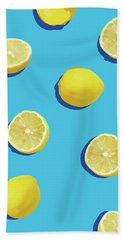 Lemon Pattern Hand Towel by Rafael Farias