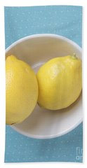Lemon Pop Hand Towel by Edward Fielding