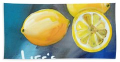 Lemons Hand Towel by Linda Woods