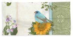 Les Magnifiques Fleurs Iv - Secret Garden Hand Towel by Audrey Jeanne Roberts