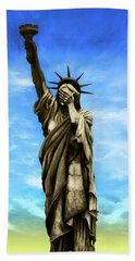 Liberty 2016 Hand Towel by Kd Neeley