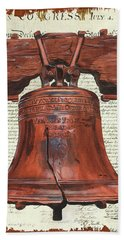 Life And Liberty Hand Towel by Debbie DeWitt