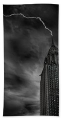 Lightning Strike Hand Towel by Martin Newman