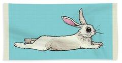 Little Bunny Rabbit Hand Towel by Katrina Davis