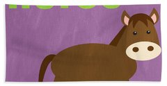 Little Horse Hand Towel by Linda Woods