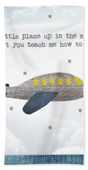 Little Plane Hand Towel by Samuel Whitton