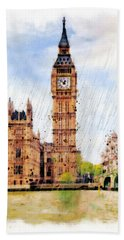 London Calling Hand Towel by Marian Voicu