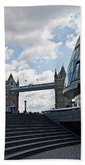 London Tower Bridge Hand Towel by Dawn OConnor
